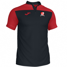 Ashgrove Rovers Seniors Joma Crewe III Polo Black/Red Youth 2020